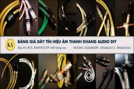 Bảng Giá Dây AV Khang Audio DIY