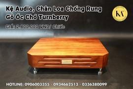 Kệ Audio, Chân Loa Chống Rung Gỗ Óc Chó Turnberry