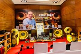 Ấn tượng với cặp loa kèn dát vàng của Khang Audio trong AV Show Hà Nội 2019